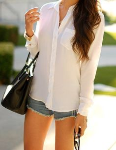 Brett Bright White Silk Blouse by Equipment