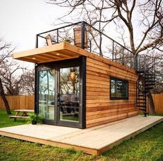 35 Best Shipping Container House Ideas- 2020 - Page 20 of 35 - coloredbikinis. - 35 Best Shipping Container House Ideas- 2020 – Page 20 of 35 – coloredbikinis. Tiny House Cabin, Tiny House Design, Cargo Home, Anchor Homes, Shipping Container Home Designs, Shipping Containers, Prefab Shipping Container Homes, Shipping Container Buildings, Building A Container Home