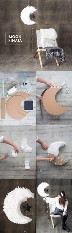 DIY moon piñata
