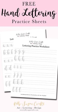 Learn hand lettering with these free sheets. Print out PDF or use Procreate file for iPad lettering. Brush Lettering Worksheet, Hand Lettering Practice, Hand Lettering Alphabet, Calligraphy Alphabet, Cursive Handwriting Practice, Brush Lettering Quotes, Graffiti Alphabet, Hand Lettering For Beginners, Hand Lettering Tutorial