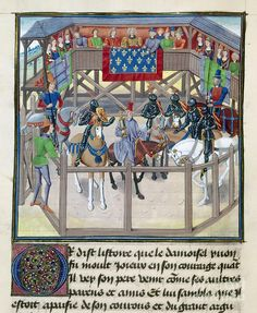 Knights In Tournament Painting by Granger