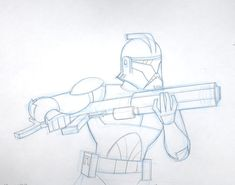 Living Lines Library: Star Wars: Clone Wars (2003, TV) - Production Drawings > Jedi and Republic Forces