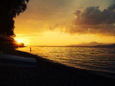 Sunset in Psatha Beach