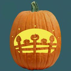 "One of 700+ FREE stencils for pumpkin carving and more! www.pumpkinlady.com ""The Pumpkin Post"" #FreePumpkinCarvingPattern"