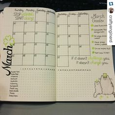 Looking for a new #monthlyspread - this could be it!! . . . #bulletjournal #planwithmechallenge #plannergirl