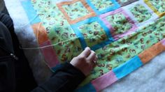 """Quilting: How to tie a quilt using the """"Hidden Tie"""" or """"International St..."""