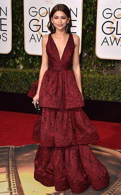 Prêmios e looks: tudo que rolou no Globo de Ouro - Golden Globes 2016 - party dress - red carpet - Zendaya
