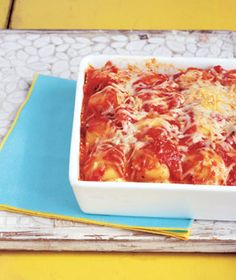 Last-Minute Lasagna - great cheater recipe. Next time use more red sauce.