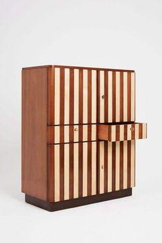 Art Deco Furniture, Funky Furniture, Furniture Design, Furniture Storage, Wooden Furniture, Striped Chair, Patterned Chair, Huge Design, Funky Decor