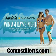 Looking for the perfect #getaway? Enter Sandal's 'Take me to the Tropics' #Sweepstakes  From now through August 27th, you could win the trip of a lifetime!  Enter Here: http://www.contestalerts.com