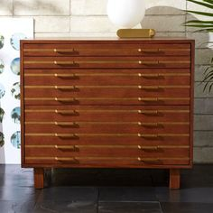 "Shop Inline Brass Filing Cabinet.   ""Familiarity reigns and favorites are reimagined with a splash of LA cool and a fashion edge,"" says Fred Segal of their eclectic approach to furniture design."