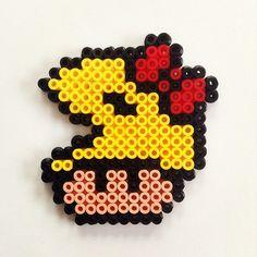 Pacman mushroom hama beads by cynthiacreation