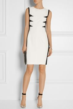 Narciso Rodriguez | Paneled stretch-crepe dress | NET-A-PORTER.COM
