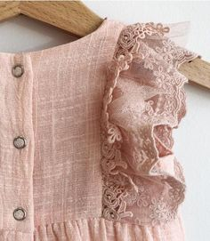 Lace and ruffle baby girl romper . Bringing baby home outfit . Little Girl Fashion, Kids Fashion, Toddler Fashion, Bringing Baby Home, Kids Frocks, Baby Girl Romper, Baby Kids Clothes, Girls Rompers, Little Girl Dresses