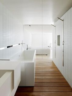 wood look tile used for bath flooring