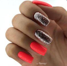 28 stunning almond shape nail design ideas page 42 Aycrlic Nails, Glam Nails, Classy Nails, Hot Nails, Stylish Nails, Simple Nails, Pink Nails, Beauty Nails, Hair And Nails