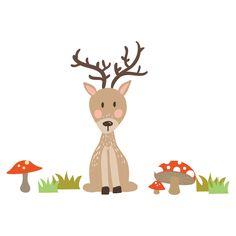 send friend stickerscape deer wall sticker set chocvenyl