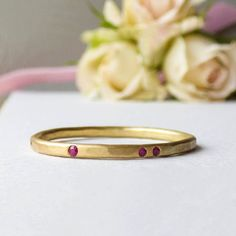 Ruby Evie. 18ct Fairtrade Gold And Ruby Ethical Ring