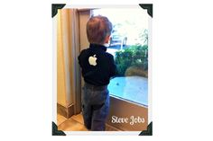 DIY halloween costume - Baby Steve Jobs