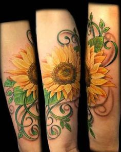 Sunflower Tattoos On Shoulder Man | Sunflower Tattoos Designs Picture and Tattoo Designs