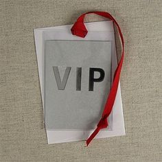 VIP Card #invitation