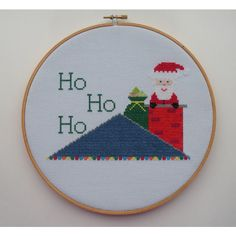 Santa Claus Christmas PDF Cross Stitch Pattern ($6) ❤ liked on Polyvore featuring home, home decor, holiday decorations, holiday home decor, printable charts, fabric home decor and christmas holiday decorations