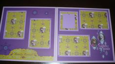 DISNEY FROZEN ELSA & ANNA SISTERS FOREVER  Premade  Scrapbook Pages 12x12