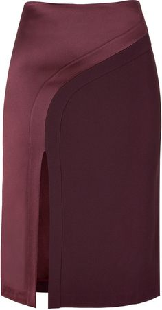 Hakaan Bordeaux Pencil Skirt - Lyst