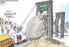 Bagley Cartoon: Bridges and Walls