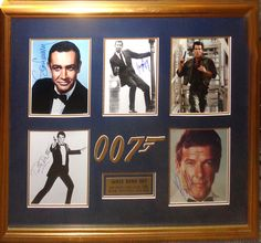 James Bond Signed Photos By 5 - Antiquities LV