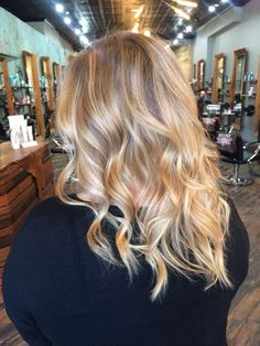 Buttery blonde balayage by Lauren. - Yelp-Buttery Blonde Buttery blonde balayage by Lau. Blonde Hair Shades, Blonde Hair Looks, Balayage Hair Blonde, Brown Blonde Hair, Medium Blonde, Golden Blonde, Buttery Blonde, Hair Color And Cut, Mi Long