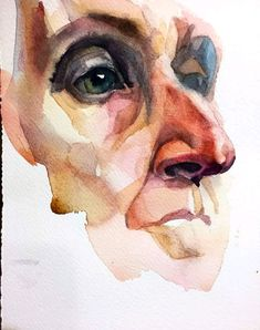 Watercolor Portrait Tutorial, Watercolor Portrait Painting, Watercolor Drawing, Portrait Art, Watercolor Illustration, Watercolor Trees, Watercolor Landscape, Painting Art, Sketchbook Inspiration
