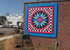 We saw this incredible quilt block in Trenton, Florida last week.