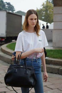 """meoutfit : meoutfit # 1205 """"Handbag Prada - MFW"""""""