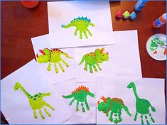 Dinosaur Arts and Crafts for toddlers Unique Dinosaur Handprints Kids Crafts Pin. Kids Crafts, Daycare Crafts, Summer Crafts, Baby Crafts, Toddler Crafts, Preschool Crafts, Projects For Kids, Arts And Crafts, Daycare Rooms