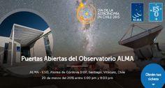 ALMA abrirá sus puertas en Santiago para el Día de la Astronomía en Chile.  http://www.explora.cl/participacion-nacional/4331-alma-abrira-sus-puertas-en-santiago-para-el-dia-de-la-astronomia-en-chile