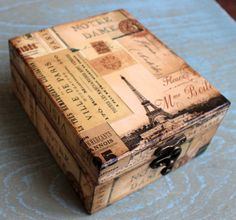 Caja de joyería de madera elegante regalo. Caja por ArtDidi en Etsy