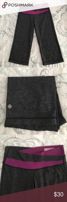 Lululemon Athletica cropped work out pants Well loved but great condition, still lots and lots of wear left. Super soft material make for a very comfortable pair of work out pants. Smoke-free home. lululemon athletica Pants