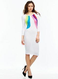 Chase The Rainbow Midi Dress