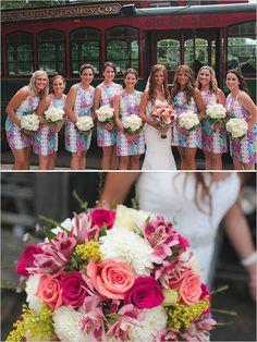 Lilly Pulitzer bridesmaid dresses