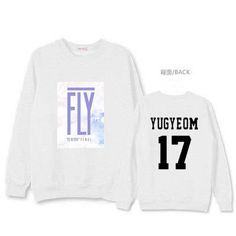 GOT7 FLY IN harajuku kpop sweatshirt women couple clothing loose pullovers autumn 2016 Korean letter print sweatshirts hoodies