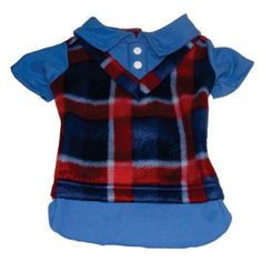 Camisa em Malha Soft Xadrez Dudog Vest - MeuAmigoPet.com.br #petshop #cachorro #cão #meuamigopet