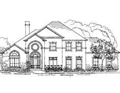Eplans New American House Plan - Four Bedroom New American - 3372 Square Feet and 4 Bedrooms from Eplans - House Plan Code HWEPL59300