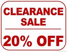 sale signs printable