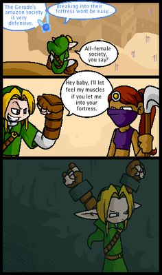 LOL. You fail so hard, Link. Though considering you are LINK the Hero of Time, I would probably have let you in anyway.