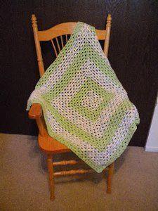 Lacy V-Stitch Baby Blanket