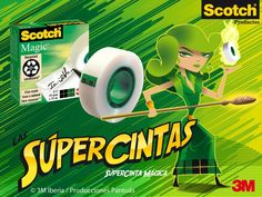 Ilustración 3M Scotch Supercintas Pantuás Diseño Gráfico