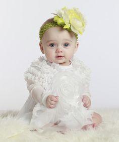 Look at this #zulilyfind! White Tia Dress - Infant #zulilyfinds