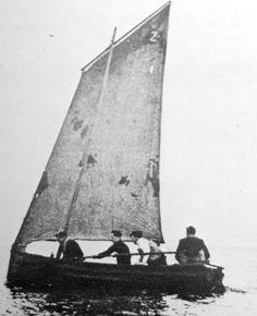 Tour Scotland Photographs: Old Photograph Small Fishing Boat West Wemyss Fife Scotland