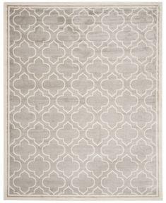 Safavieh Amherst Indoor/Outdoor AMT412A Ivory/Light Green 4' x 6' Area Rug - Light Grey/Ivory
